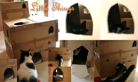 cat kingdom handmade craftwork kitty happy castle door home